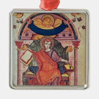 Cod.22 St. Mark, from the Ada manuscript Silver-Colored Square Decoration