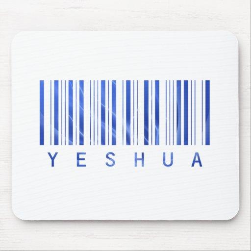 Code barre Yeshua Bleu TRANS PNG Mousepad
