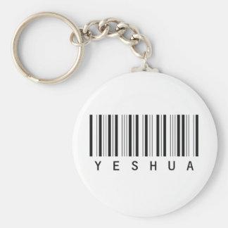 Code barre Yeshua noir Basic Round Button Key Ring