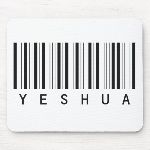 Code barre Yeshua noir Mousepad