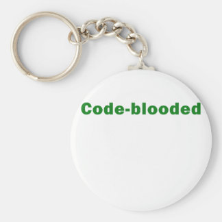 Code Blooded Basic Round Button Key Ring