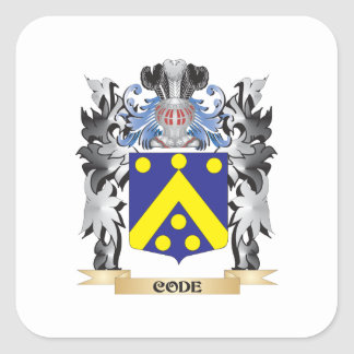 Code Coat of Arms - Family Crest Square Sticker