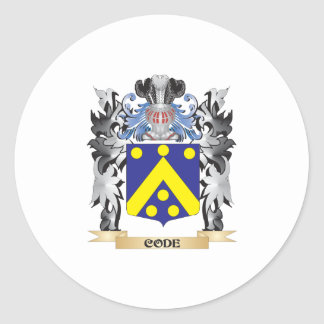 Code Coat of Arms - Family Crest Round Sticker