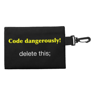 Code Dangerously! Accessories Bags