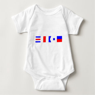 Code Flag Chase Baby Bodysuit