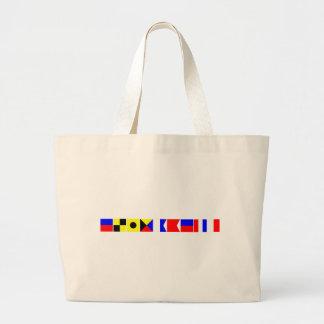 Code Flag Elizabeth Large Tote Bag