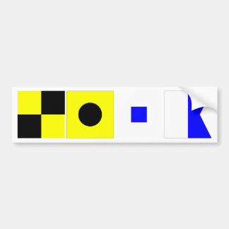 Code Flag Lisa Bumper Stickers