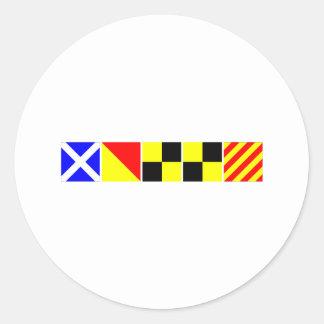Code Flag Molly Round Sticker