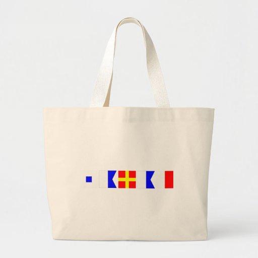 Code Flag Sarah Tote Bag