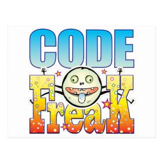 Code Freaky Freak Postcard