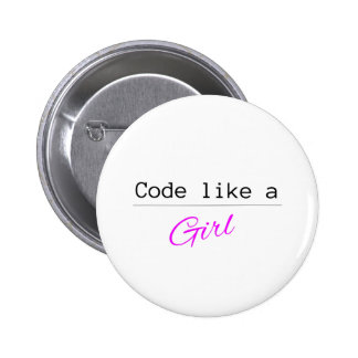 Code like a GIRL 6 Cm Round Badge