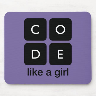 Code Like a Girl Mouse Pad