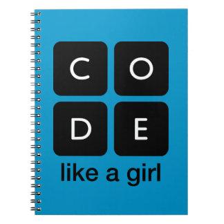 Code Like a Girl Notebook