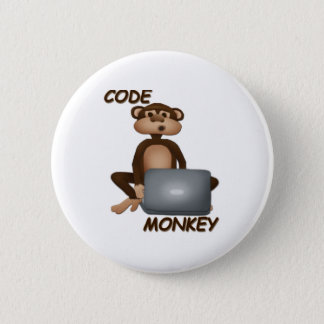 Code Monkey 6 Cm Round Badge
