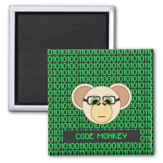 Code Monkey Cartoon Animal Programmer Coder Jungle Magnet