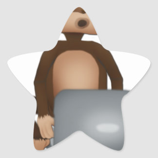 Code Monkey Star Sticker