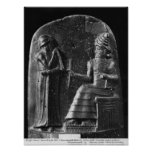 Code of Hammurabi, top of the stele Poster