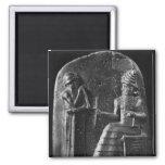 Code of Hammurabi, top of the stele Square Magnet