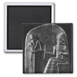 Code of Hammurabi, top of the stele Square Magnet