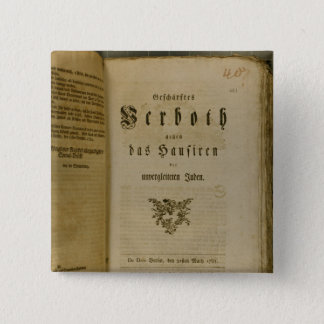 Code of Procedure from 1776 15 Cm Square Badge