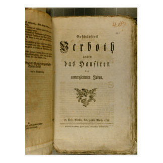 Code of Procedure from 1776 Postcard