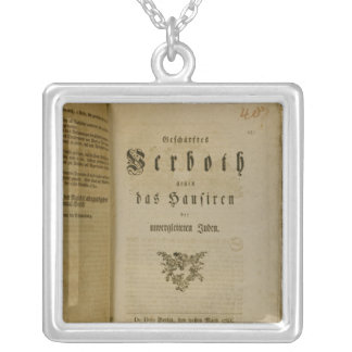 Code of Procedure from 1776 Silver Plated Necklace