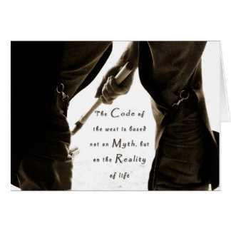 Code of the West Farrier Note Card