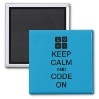 "Code.org ""Keep Calm and Code On"" Magnet"