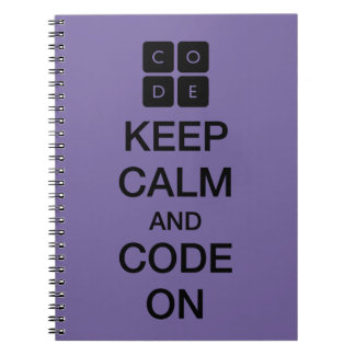 "Code.org ""Keep Calm and Code On"" Spiral Note Book"