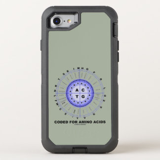 Coded For Amino Acids DNA Genetic Code OtterBox Defender iPhone 7 Case
