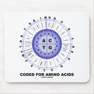 Coded For Amino Acids (Genetic Code DNA) Mouse Pad