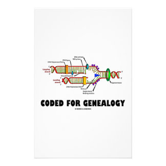 Coded For Genealogy (DNA Replication) Stationery