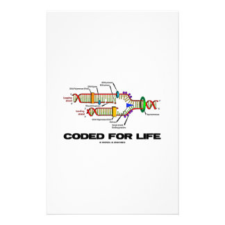 Coded For Life DNA Replication Molecular Biology Personalized Stationery