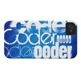 Coder; Royal Blue Stripes iPhone 4 Cover