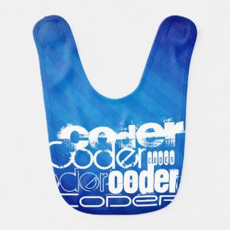 Coder; Royal Blue Stripes Bibs