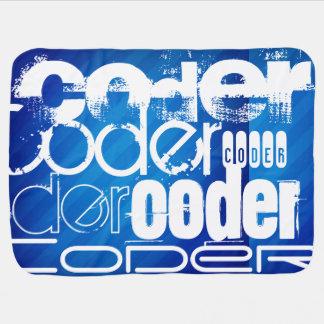 Coder; Royal Blue Stripes Swaddle Blankets