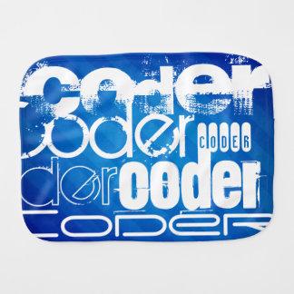 Coder; Royal Blue Stripes Baby Burp Cloth