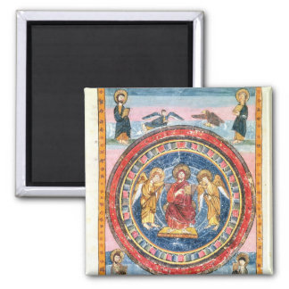 Codex Amiatinus Christ in Majesty Square Magnet