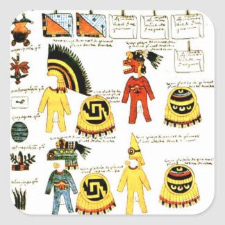 Codex Mendoza Square Sticker