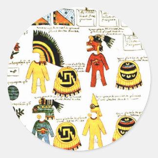 Codex Mendoza Round Stickers