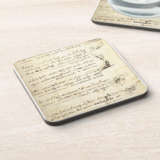 Codex on the flight of birds by Leonardo da Vinci Coaster