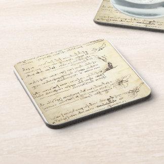 Codex on the flight of birds by Leonardo da Vinci Drink Coaster