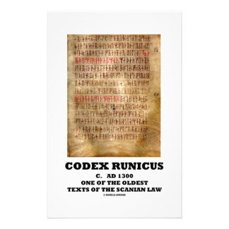 Codex Runicus c. AD 1300 One Of The Oldest Texts Stationery Design