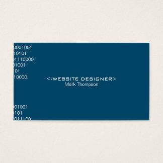 Coding Deep Blue Background Business Card
