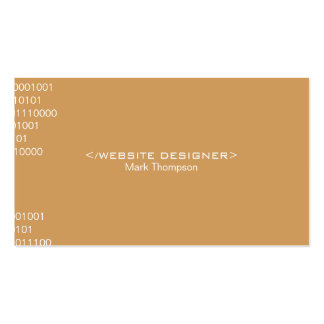 Coding Deep Tan Background Pack Of Standard Business Cards