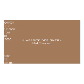 Coding (french beige) pack of standard business cards