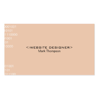 Coding Pack Of Standard Business Cards