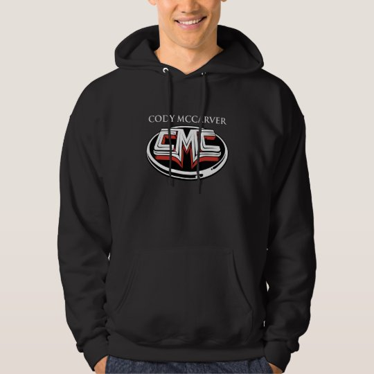 Cody McCarver Logo White Name Hoodie