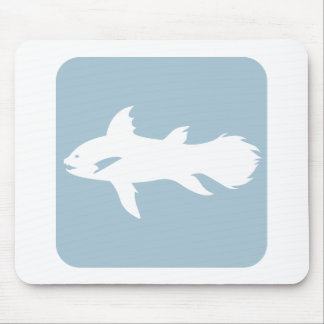 Coelacanth Fish Icon Mouse Pad