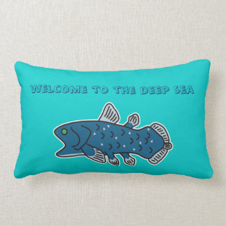 "Coelacanth Pillow ""WELCOME TO THE DEEP SEA"""